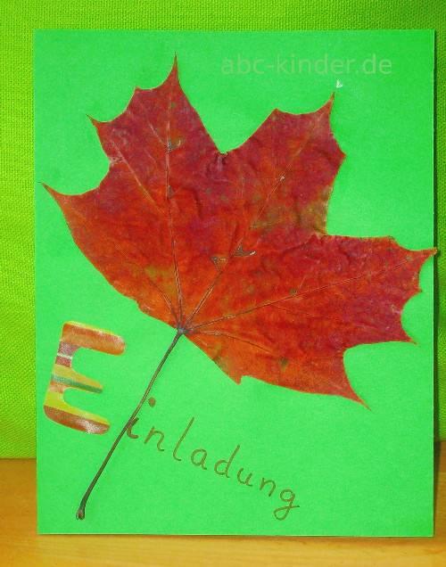 Zeit Zum Blätter Sammeln Bastelideen Mit Herbstlaub Abc