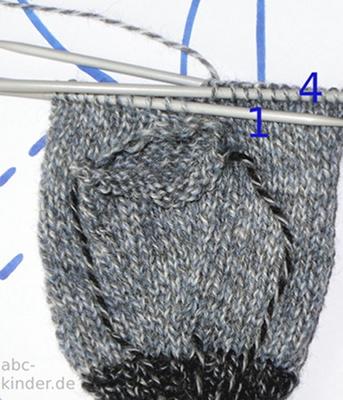 Eine Anleitung zum Stricken von Fausthandschuhen für die kalte ...