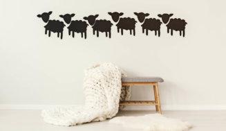 Wandtattoos können einen guten Akzent im Kinderzimmer setzen